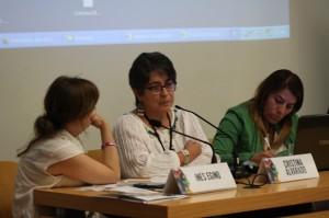 Inés Egjino, Cristina Alvarado y Verónica Cruz