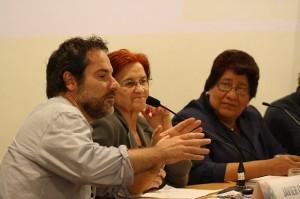 Javier Gil, Casilda Velasco y Verónica Castellanos