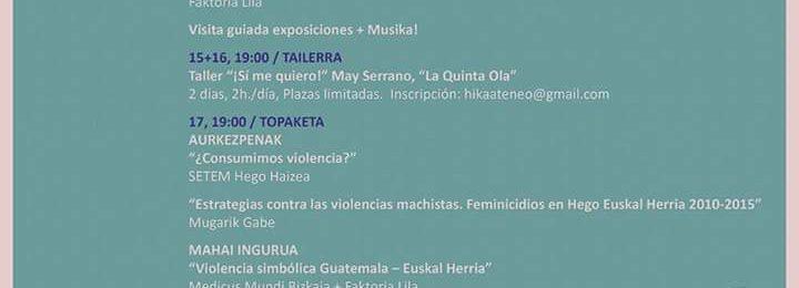 """""""Violencia simbólica Guatemala – Euskal Herria"""", bi herrialdeen arteko indarkeria matxistak konparatzeko mahai ingurua Image"""