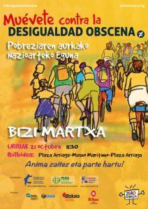El 21 de octubre participaremos en la Bizi Martxa desde el Arriaga hasta el Museo Marítimo