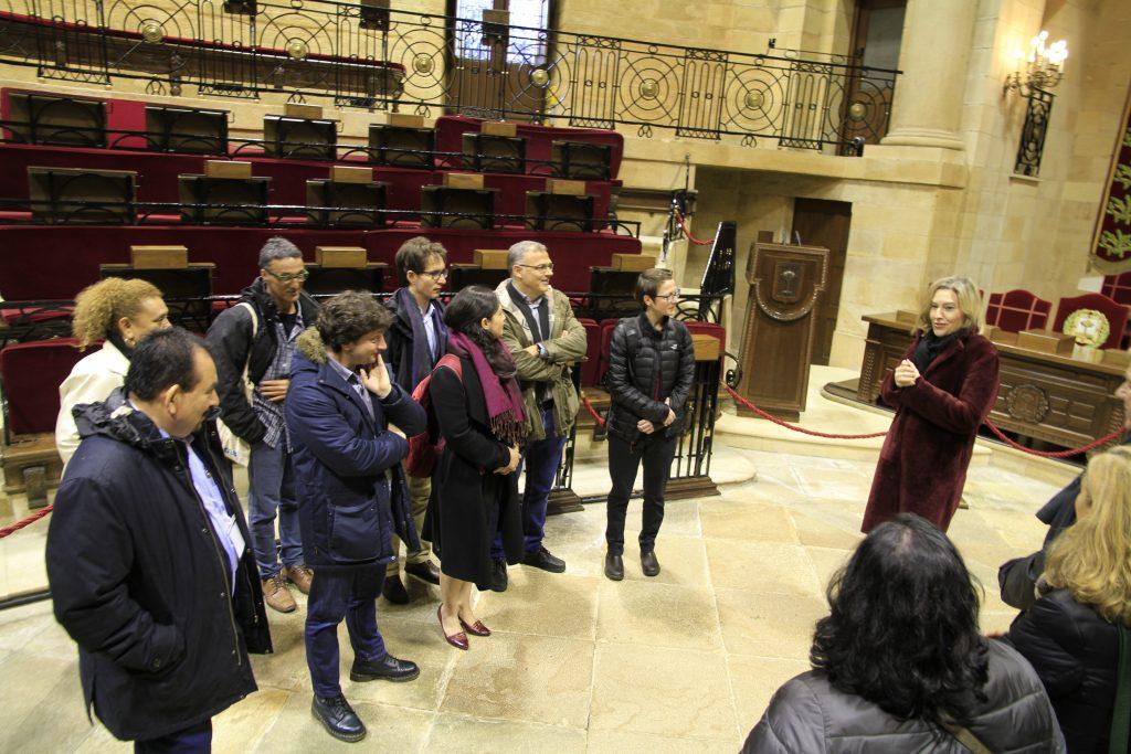 Recepción institucional en la Casa de Juntas Generales de Bizkaia