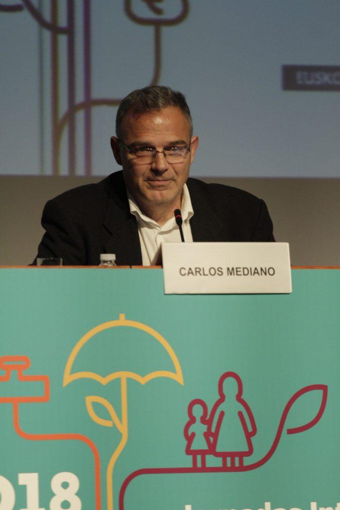 Carlos Mediano durante el cierre de las jornadas