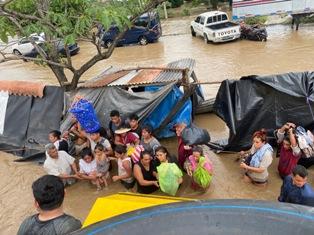 Eta eta Iota urakanen aurka aritu gara Erdialdeko Amerikan