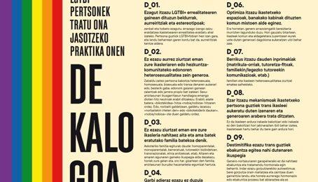 LGTBI+ Pertsonek Tratu Ona jasotzeko Praktika Onen DEKALOGOA – FPB ADSIS LEIOA-GETXO Image